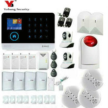YobangSecurity Touch Keypad Wireless GSM Wi-Fi GPRS Intelligent Alarm Security System with RFID Card Pet Immune Sensor