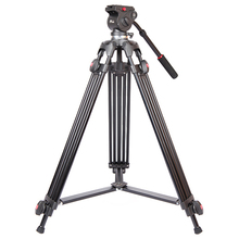 JIEYANG JY0508 Aluminum Professional Camera Tripod with Fluid Head Video Pan For DSLR Photography Camera Stand