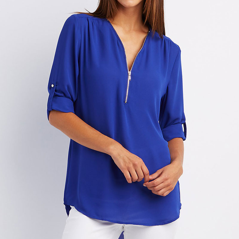 Online Get Cheap Royal Blue Blouse -Aliexpress.com | Alibaba Group