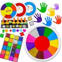 24 см забавная 6-24 цвета чернильная прокладка для печати Сделай Сам пальчиковая живопись ремесло картотека для детей Монтессори Рисование 0-12 месяцев Детские игрушки
