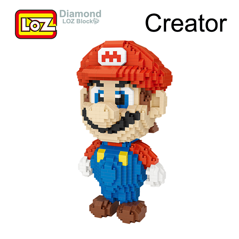 LOZ Super Mario Bros wii Fantasia Game Figure Toy Building Blocks 17CM 1350pcs Big Size For 14+ Offical Authorized 9040