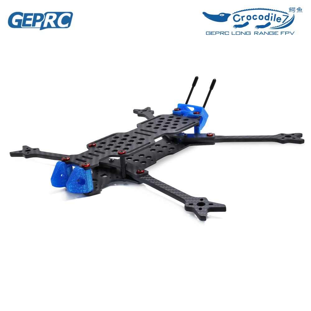 GEPRC GEP LC7 Crocodile 7 Drone Frame Kit Full Carbon Fiber Quadcopter Frame for Freestyle Long