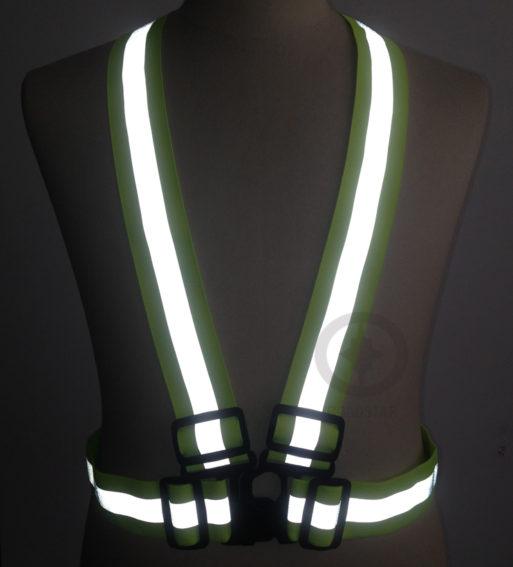 10 pieces Wholesale Express Reflective elastic webbing belt High visibility heat transfer tape