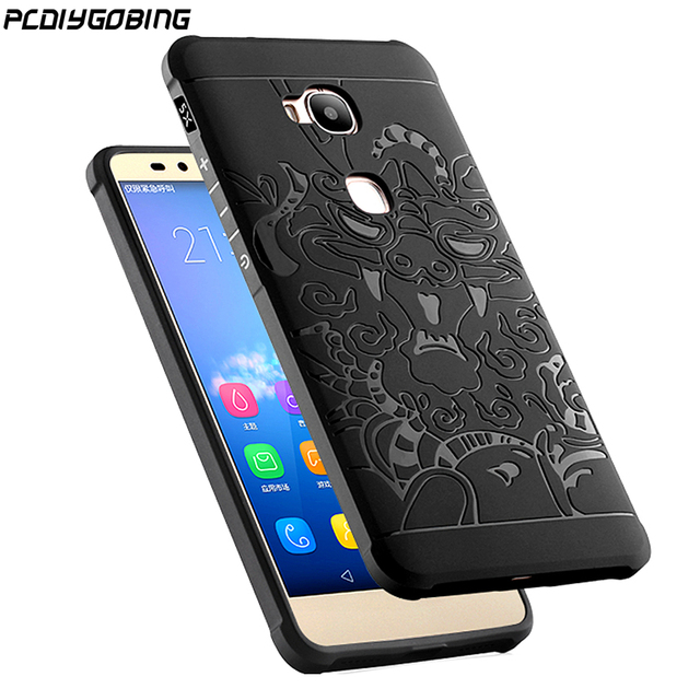 sito affidabile ced25 f8901 US $4.67 15% OFF|2019 New For Huawei GR5 Honor 5X Case 3D carved Dragon  Soft Silicon back cover For Huawei Honor5X Honor 5X 5 X scrub Cover-in  Fitted ...