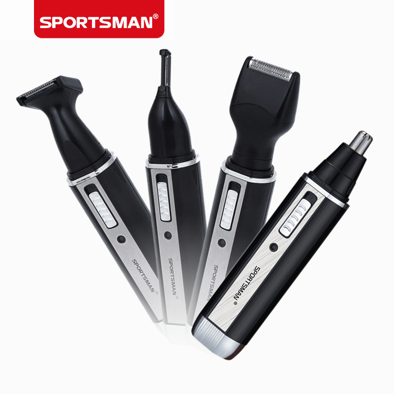 sportsman 4 in 1 electric nose ear hair trimmer waterproof eyebrow beard trimmer hair trimming. Black Bedroom Furniture Sets. Home Design Ideas