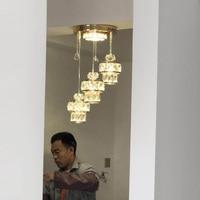 Бесплатная доставка 3 Огни Современная хрустальная люстра подвесные лампы ресторан столовая кухня бар магазин Хрустальное подвесное освещ
