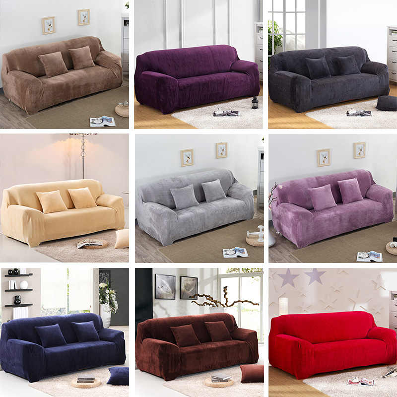 Super Soft Stretch Thick Plush Sofa Slipcover Couch Armchair Covers Furniture Seater Protector For Winter