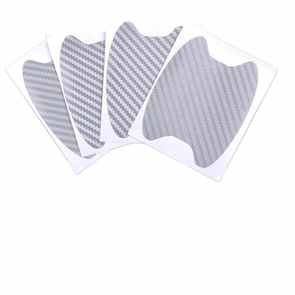 Auto forma di 3D in fibra di carbonio maniglia della porta da polso anti-scratch sticker per Kia KND-4 Spectra5 Spectra Rio5 Multi- S Amanti Opirus