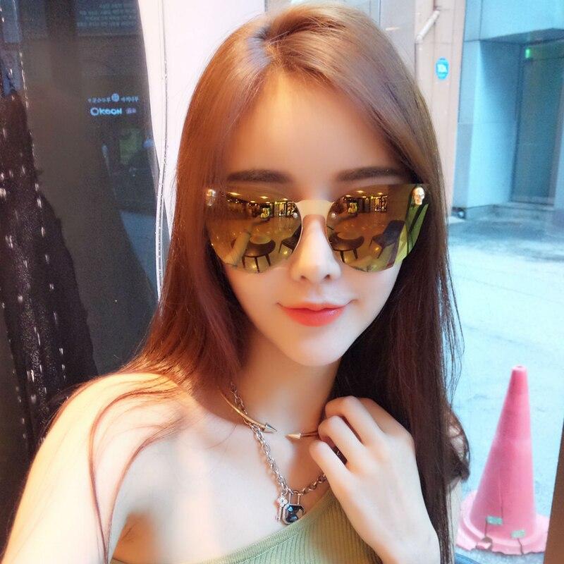 2017 nueva moda oval para mujer marca gafas de sol de lujo oculos - Accesorios para la ropa - foto 5
