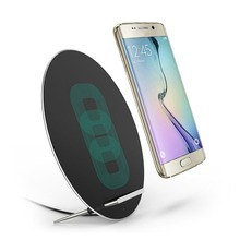 W7 Fast Wireless Charger Round Shaped Dock Station For Samsung For iPhone Support For QI Charging Pad Mobile Phone Holder