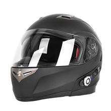 2017 Built-In Bluetooth Headset Casco de La Cara Llena Casco de La Motocicleta 500 m BT BM2-S Con Radio FM