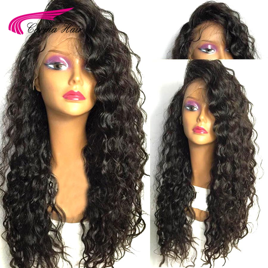 Carina 13*6 Deep Part Lace Front Human Hair Wigs with Baby Hair Natural Color Brazilian Remy Hair Curly Wigs with Pre-Plucked