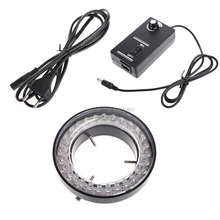 60 LED Adjustable Ring Light illuminator Lamp for STEREO ZOOM Microscope Microscope EU Plug -B119