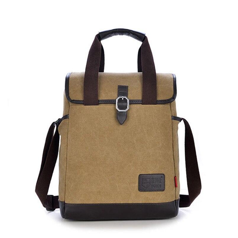 ФОТО 5 Colors New 2016 Men Handbag Canvas Shoulder Bag Casual Women Vintage Fashion Package Korean Version Men's Messenger Bags