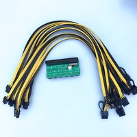 Free Ship DPS 1200FB Power Supply Adapter Board 10 Pcs 6 2P Cable 40cm For Ethereum