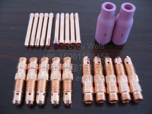 4pcs TIG Welding Collet 10N23 10N24 10N25 1.0 1.6 2.4 3.2mm for WP17 18 26 Torch