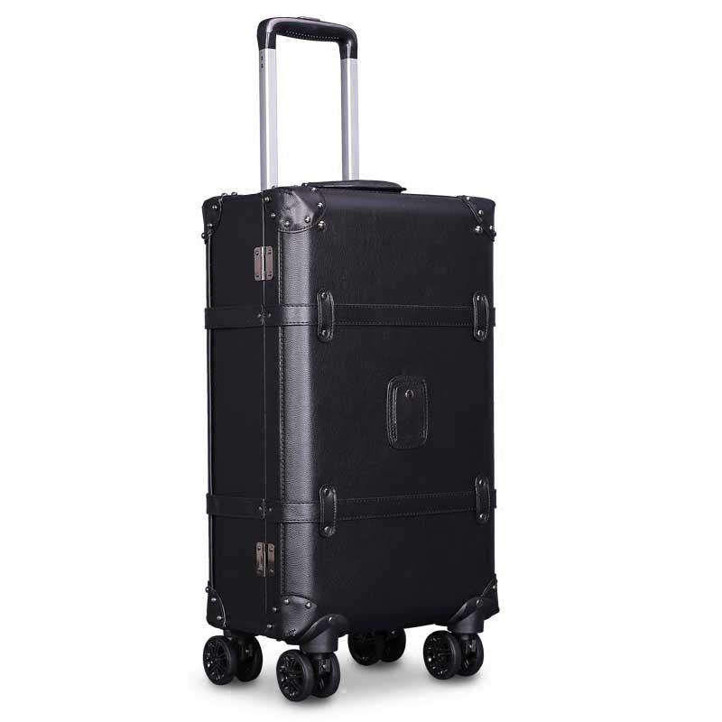 LeTrend Retro Spinner Rolling Luggage Set Women Password Trolley Suitcase Wheels 20 Inch Men Vintage Cabin Travel Bag Trunk