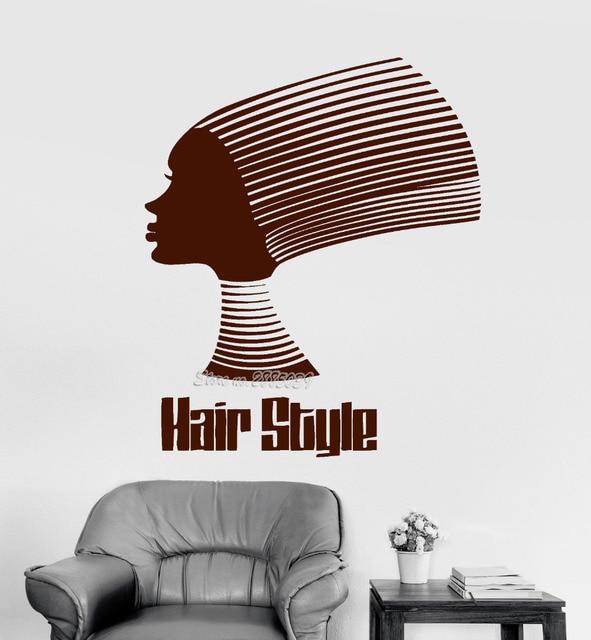 US $7.97 25% OFF|Afrikanische Haar Stil Zitat Vinyl Wandtattoo  Schönheitssalon Aufkleber Benutzerdefinierte Farbe Tapete Qualität Wand  Kunst Mode ...