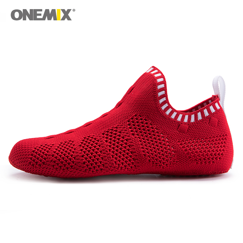 Eco Friendly Slippers: Onemix Men Jogging Sneakers No Glue Environmentally