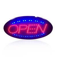 LED Open Sign Advertising Light Shopping Mall Animated Motion Running Neon Business Store Coffe Shop Bar with Switch US EU Plug
