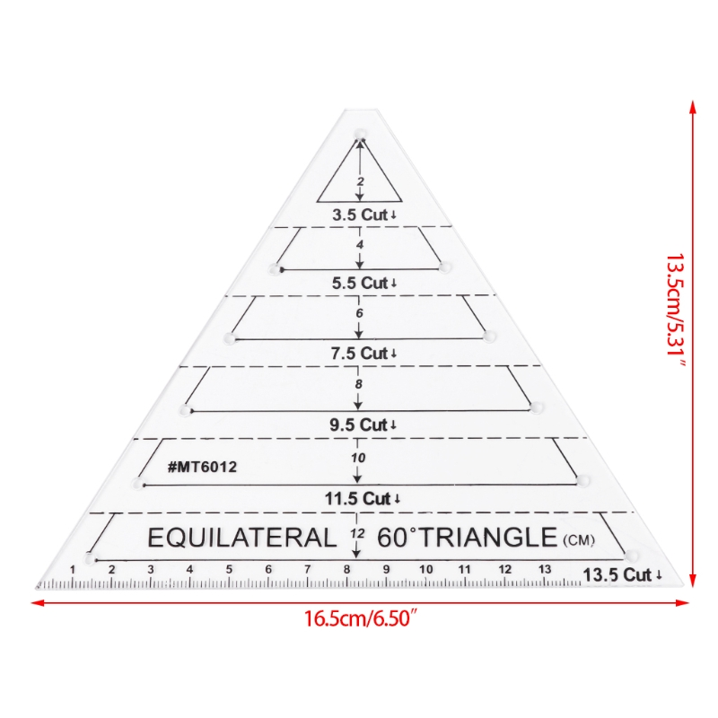 quilting templates Triangle 60 Deg