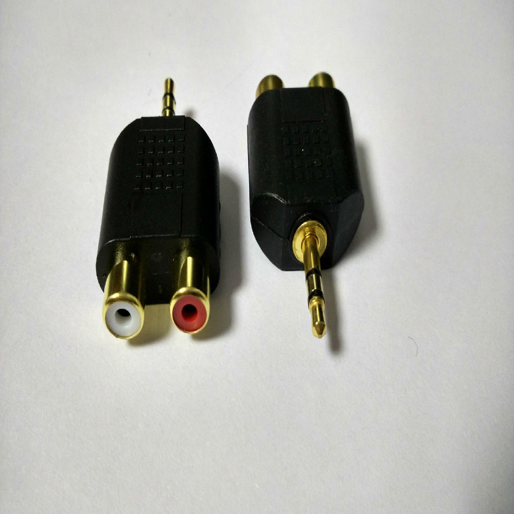 3.5mm <font><b>Male</b></font> Stereo <font><b>to</b></font> Dual <font><b>2</b></font> <font><b>RCA</b></font> <font><b>Female</b></font> Y Splitter Audio Adapter Converter image