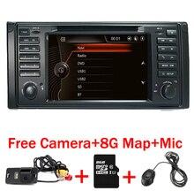 Original UI 2 din Coche reproductor de DVD para bmw E39 e53 X5 con GPS Bluetooth de Radio RDS USB SD control Del Volante Del Envío de La Cámara mapa