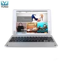 YUNAI Aluminum Wireless Bluetooth Smart Keyboard For IPad Air 2 New Ultra Slim Keyboard Dock Cover