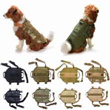 Tactical Military K9 MOLLE Service Dog Harness Police German Shepherd Vest Camo Khaki Black Equipment Clothes