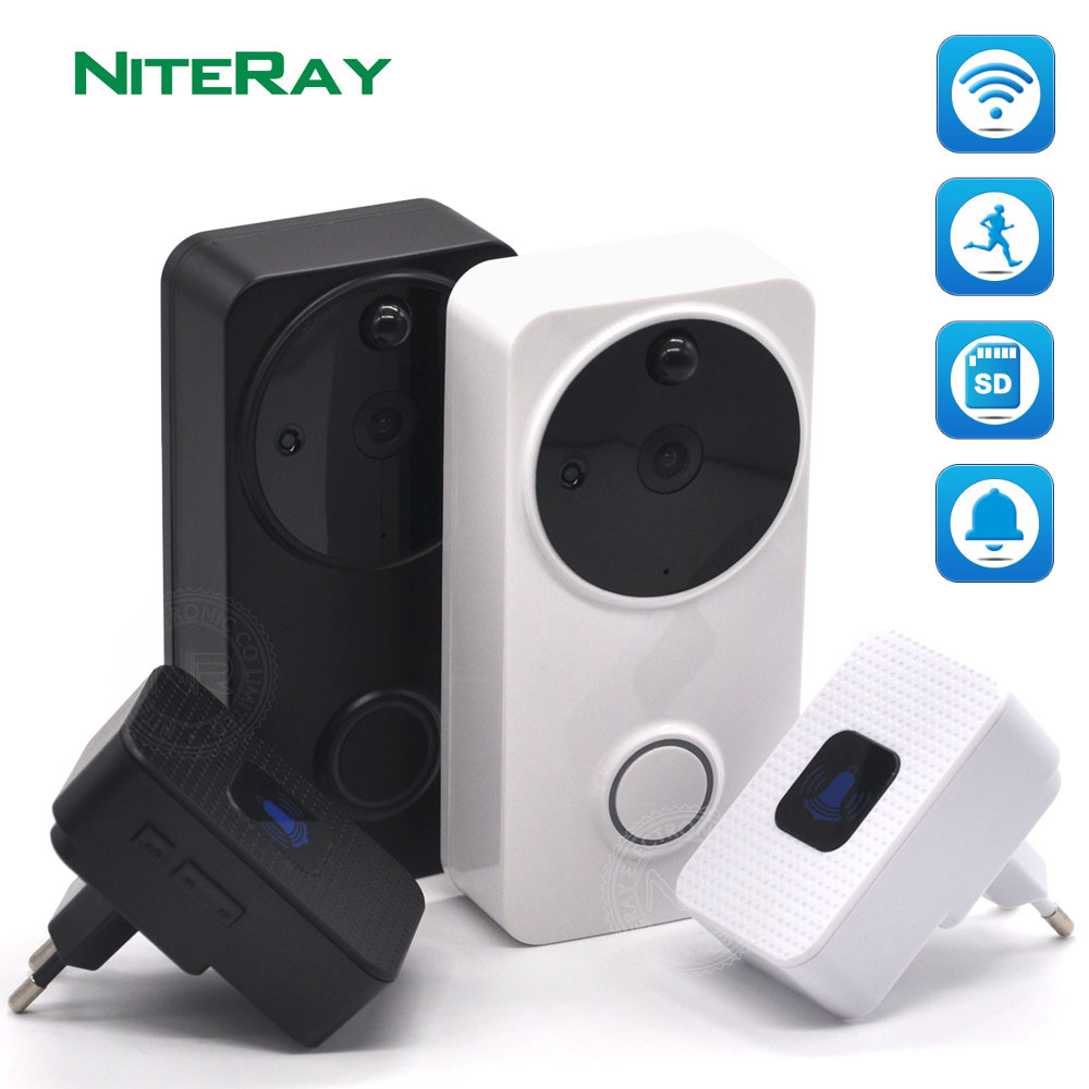 720P Wireless WiFi Video Doorbell 1.0MP Doorbell Camera Night Vision Two-Way Audio Battery Operation + Indoor Chime цена 2017