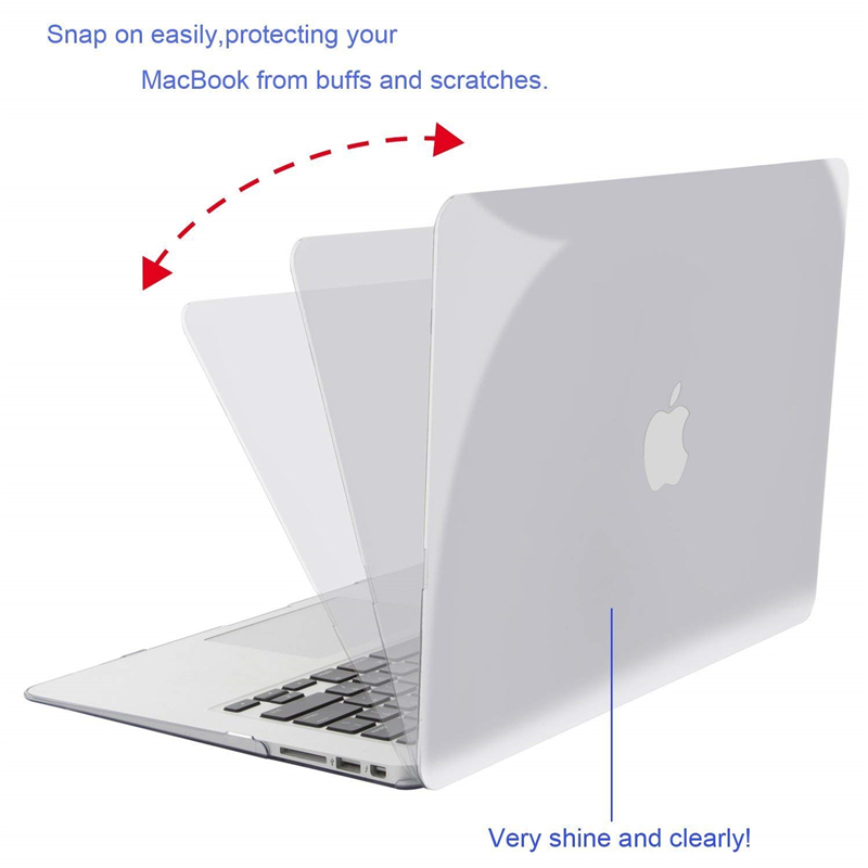 Image 4 - MOSISO Crystal Hard Case For Macbook Air 13 New 2018 Retina Pro 13 Hard Cover With Free Keyboard Cover Model A1466 A1502 A1932-in Laptop Bags & Cases from Computer & Office