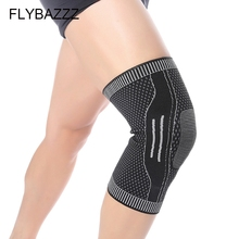 FLYBAZZZ New Weaving Anti-slip Breathe Knee Pad Protector High Elastic Support Brace Professional Protective Sport
