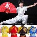 Традиционный Китайский ушу равномерное Кунгфу одежда боевые искусства костюм таолу одежда чанцюань для мужчина девочка мальчик дети-женщина дети