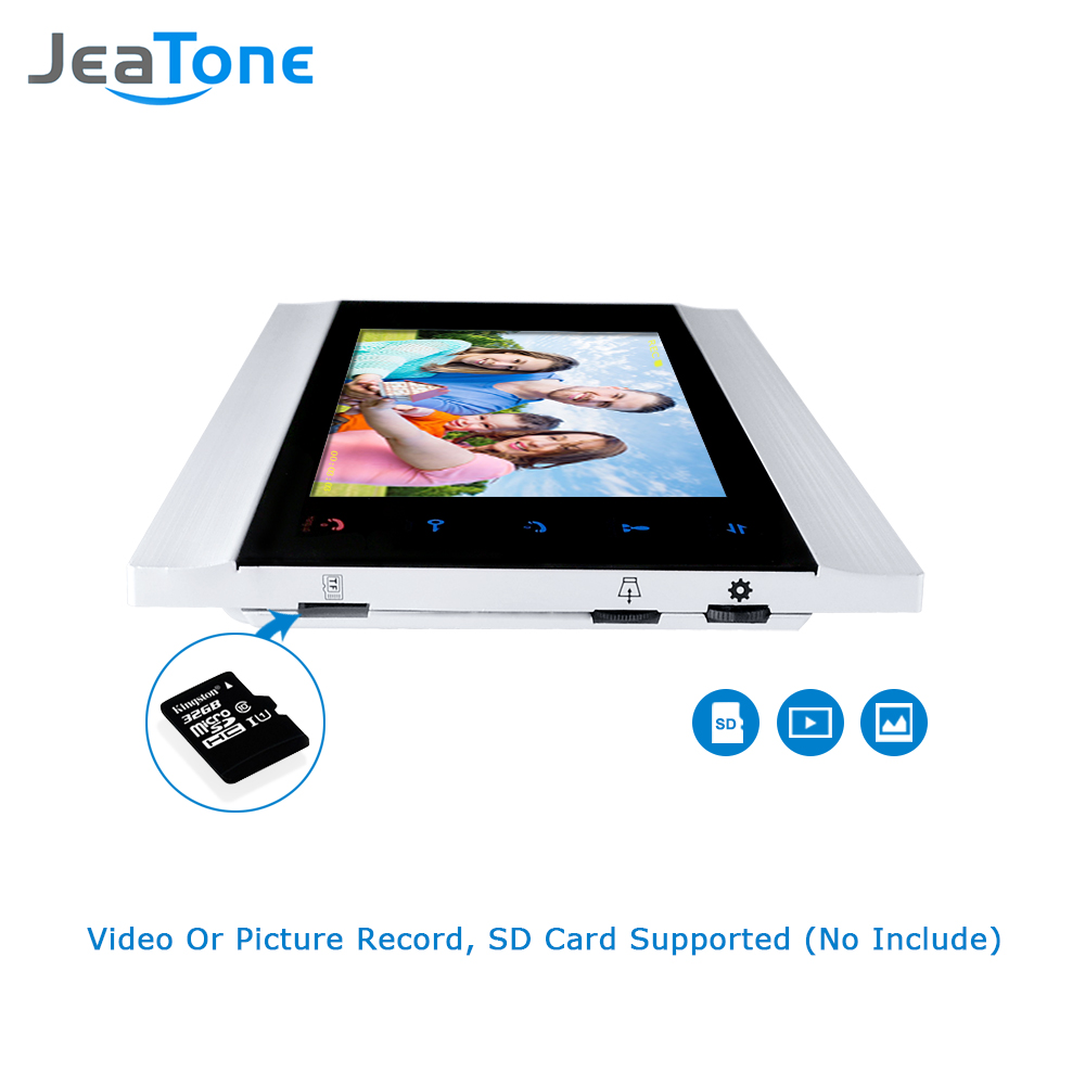 7Monitor Video Intercoms DoorPhone Security System Touch Button Waterproof Camera Doorbell Multi-language menu Built-in Memory