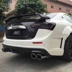 Dla Maserati Ghibli tylny spoiler z włókna węglowego GT Style 2014 2015 2016 2017 UP Spoilery i skrzydła Samochody i motocykle -
