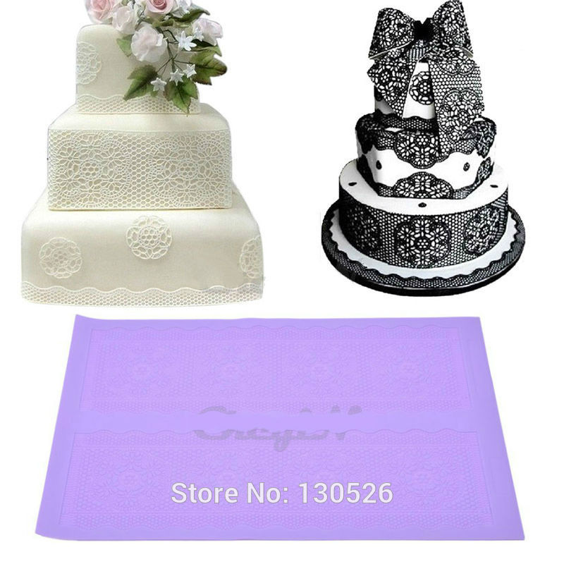 40x27cm DIY Lace Fondant Mold Cake Decoration Chocolate Candy Mould Food Grade Silicone Lace Gum Paste