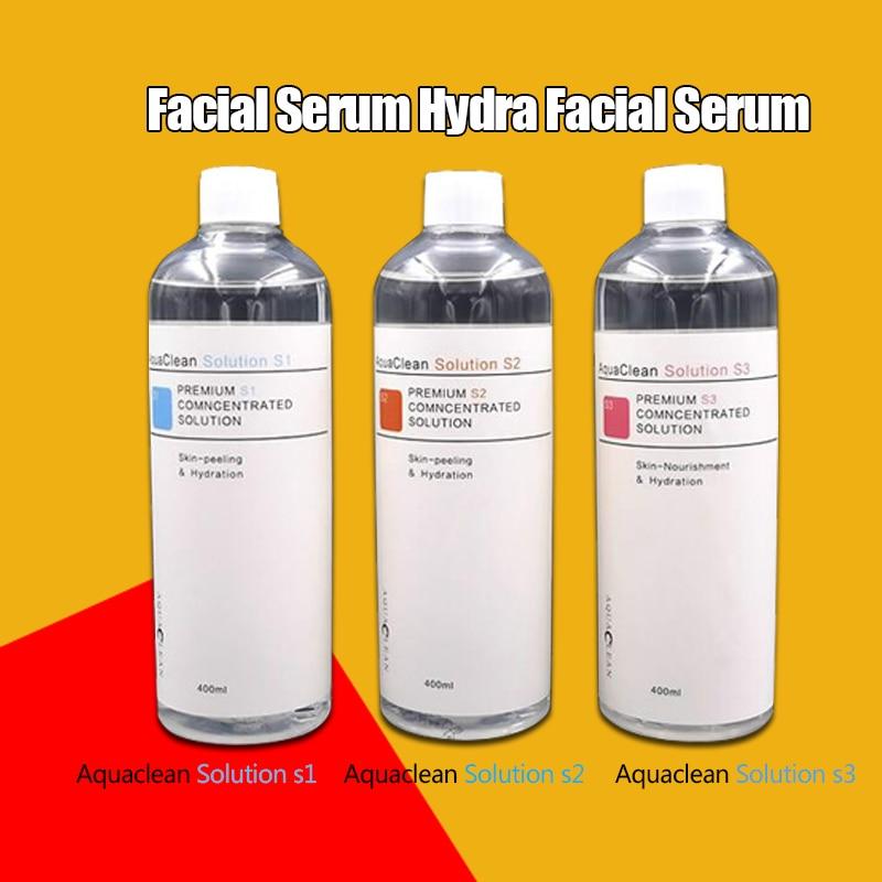 Newest Aqua Clean Solution / Aqua Peel Concentrated Solution 400ml Per Bottle Aqua Facial Serum Hydra Facial Serum For Normal Sk