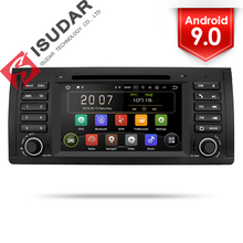 Isudar font b Car b font Multimedia player Android 9 GPS One Din DVD Player For