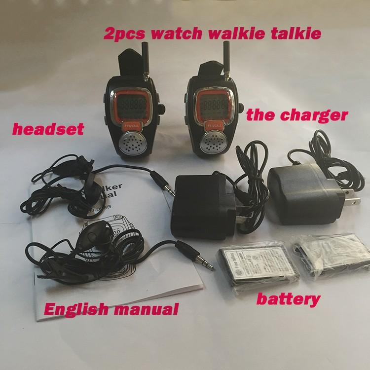 Rado Pair Two Wrist Watch Way Radios LCD Radio Walkie Talkie Watch For Portable Radio Set Handy Talkie Transceiver Radio Scanner  (6)