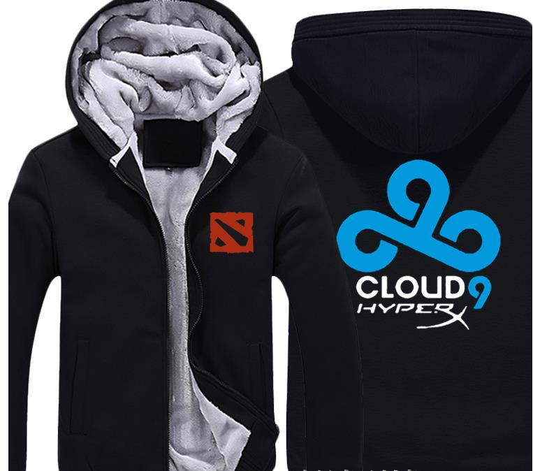 Men's Clothing Smart Lol Dota2 Hoodie Team Cloud 9 Secret Wings Dk Vici Gaming Jackets Coats Winter Thick Flannel Sweatshirts For Men And Women Refreshment