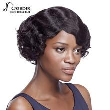 Joedir Hair Brazilian Virgin Hair Loose Wavy Short Human Hair Bob Wigs Lace Frontal Closure Wigs With Baby Hair Free Shipping