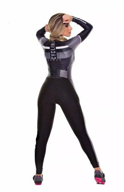 2019 pro equipe triathlon terno feminino camisa de ciclismo skinsuit macacão maillot ciclismo ropa ciclismo hombre manga longa conjunto gel 3