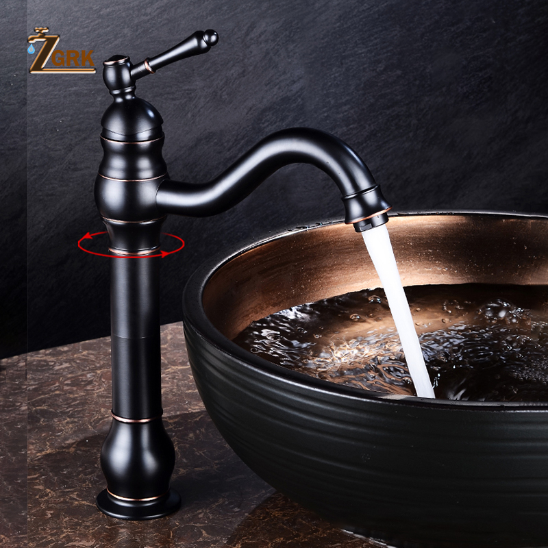 Antique Copper Bathroom Faucets Basin Faucets Brass Oil Rubbed Bronze Black Faucet Bathroom Hand Shower Hot Cold Mxier Water Tap