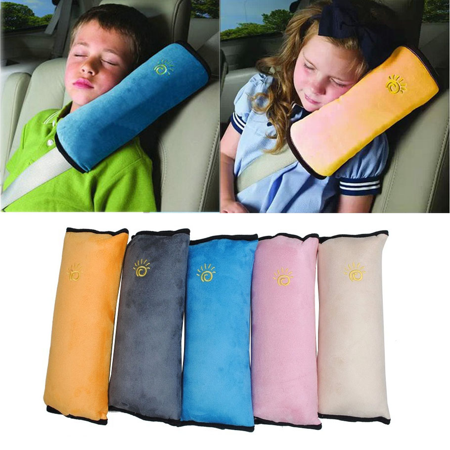 Dongzhen 1X Car Safety Seat Belt Padding Children Kid Baby Protection Soft Shoulder Pillow Headrest Auto Seat Belts Strap Cover