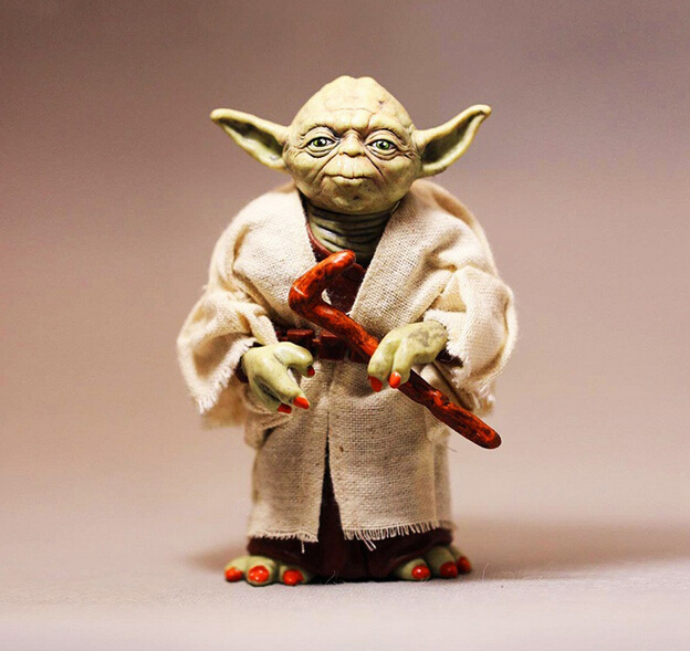 NEW hot 12cm Star Wars 7: The Force Awakens Jedi Knight Master Yoda action figure toys Christmas gift star wars clone wars jedi master plo koon 3 75 inch loose figure