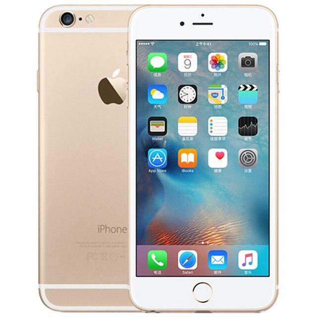 Оригинальные Apple iPhone 6 Dual Core 4,7 дюйма 1 ГБ Оперативная память 16/64/128 ГБ Встроенная память 8MP Камера WCDMA LTE ips IOS разблокирована использовать смартфон - Цвет: Gold