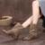 2016 Sapatos de Inverno Mulheres Botas de Salto Plano de Couro Genuíno Botão Handmade Botas Tornozelo Mulheres