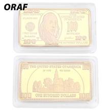 24K позолоченные памятные монеты украшения сувениры золотой слиток золота современный золотой дом США фильм сувенирная монета 100 долларов
