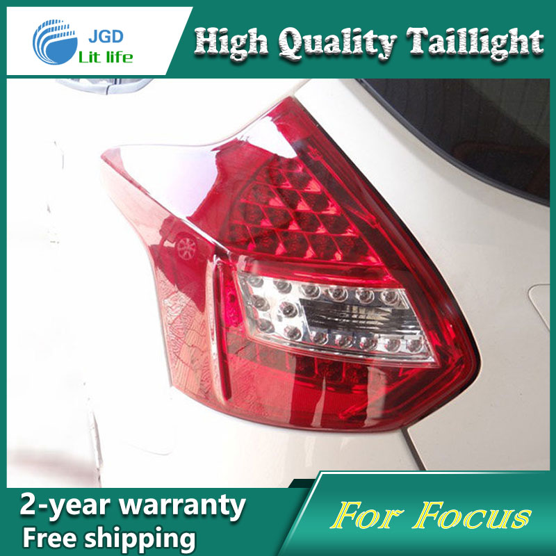 high quality ! Tail Lamp for Ford Focus 2012 2013 2014 Tail Lights LED Tail Light Rear Lamp Hatchback LED DRL+Brake+Park+Signal car styling tail lights for toyota highlander 2015 led tail lamp rear trunk lamp cover drl signal brake reverse