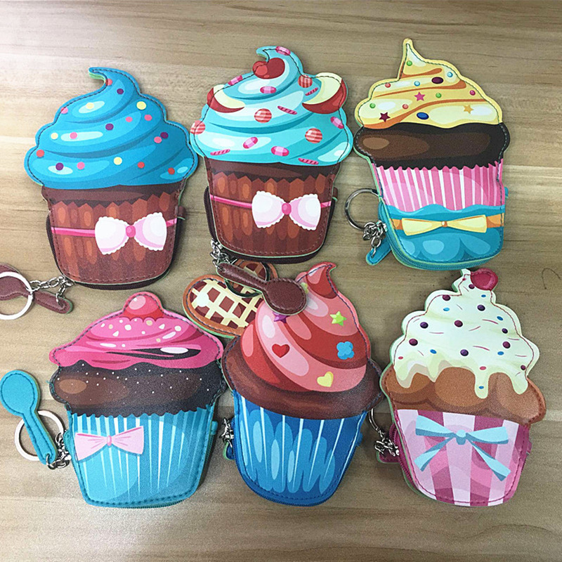 Creative Dessert Ice Cream Mini Coin Purse Simple Male Female Student Child Coin Pack Provide dropshipping Welcome Online Store